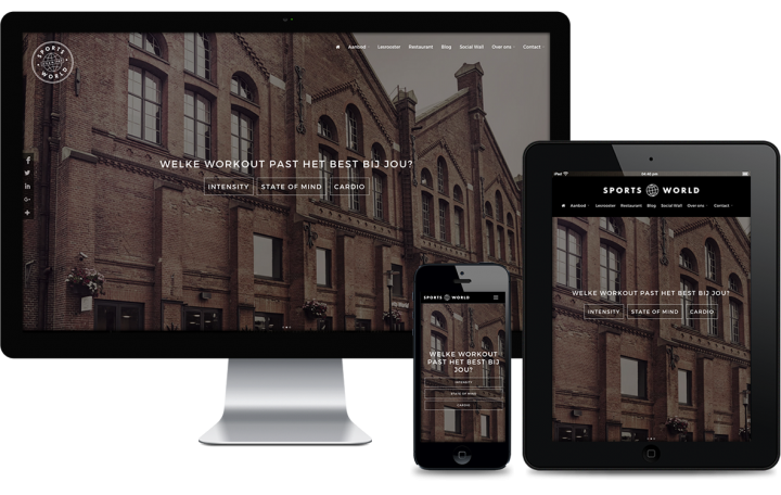 Swerk webdesign bureau amsterdam - Sports World