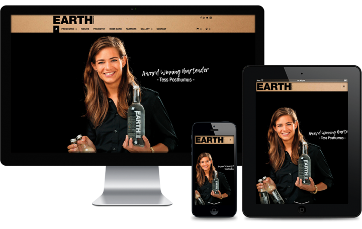 Swerk webdesign bureau amsterdam - website voor Earth water